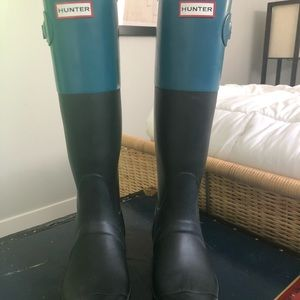 Hunter Shoes - Hunter Wellingtons - Tall Blue Colourway
